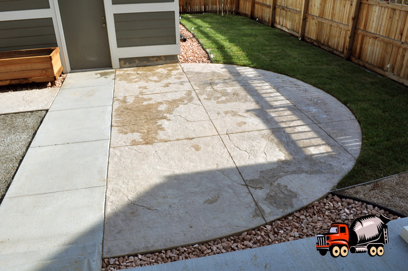 Stamped Concrete Patio in Stapleton, CO