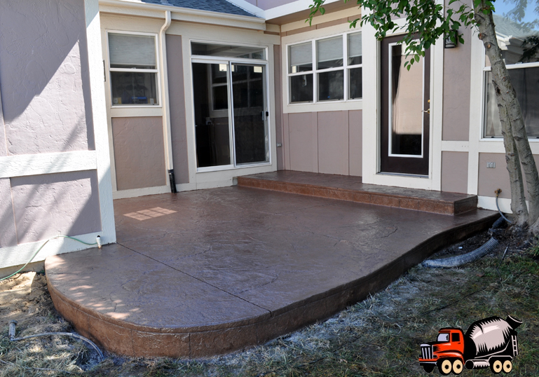 Stamped Concrete Patio in Lowry, CO