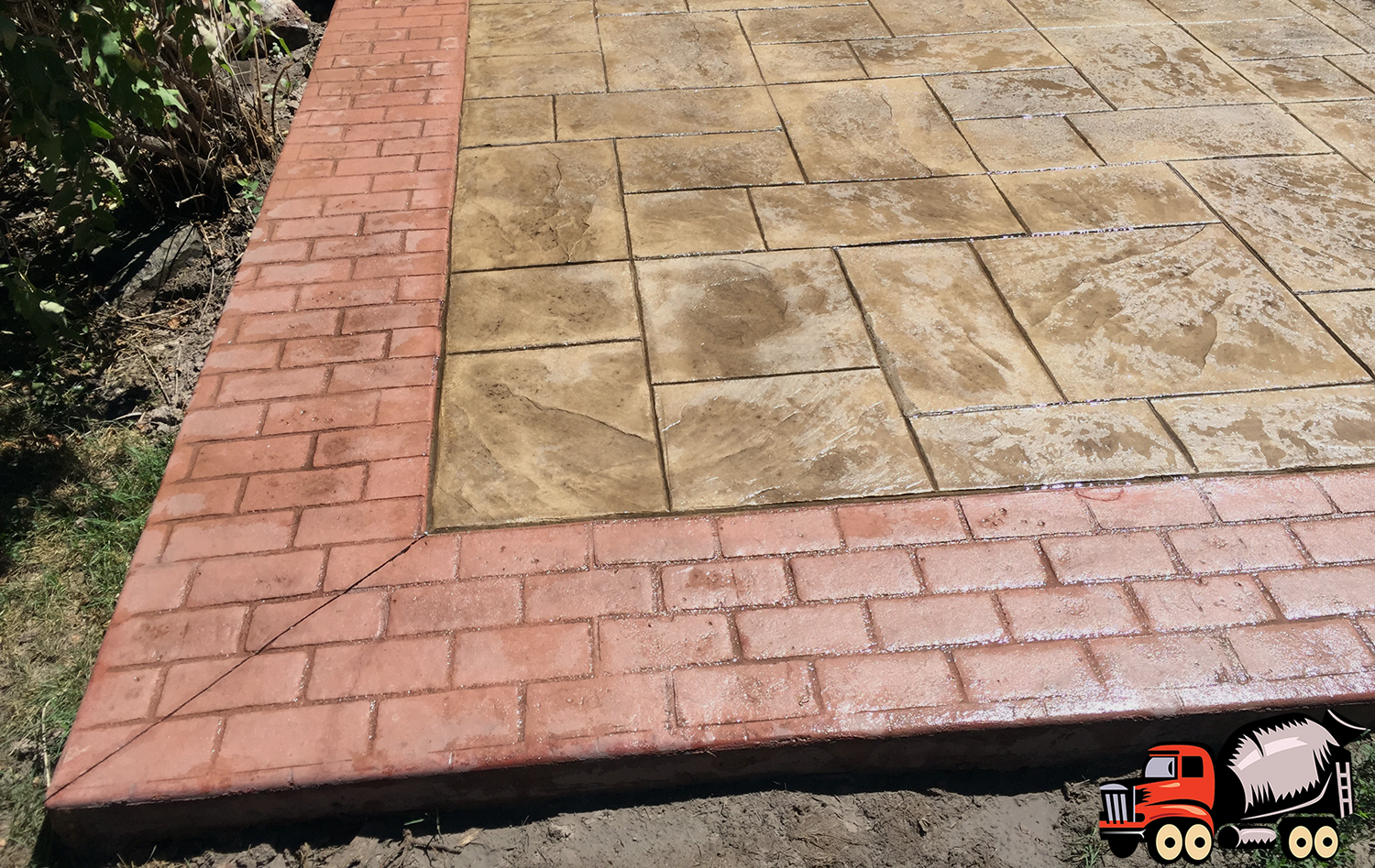 Stamped Concrete Border - Denver Concrete Company
