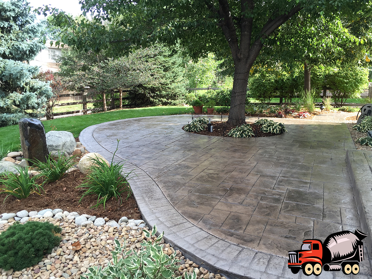 Stamped Concrete Patio - Denver Concrete Company