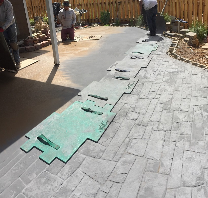 Dublin Cobble Stamped Concrete